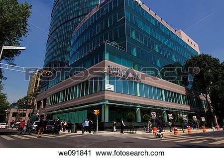 Stock Photography of Torre Mayor Av Reforma Ciudad de Mexico.