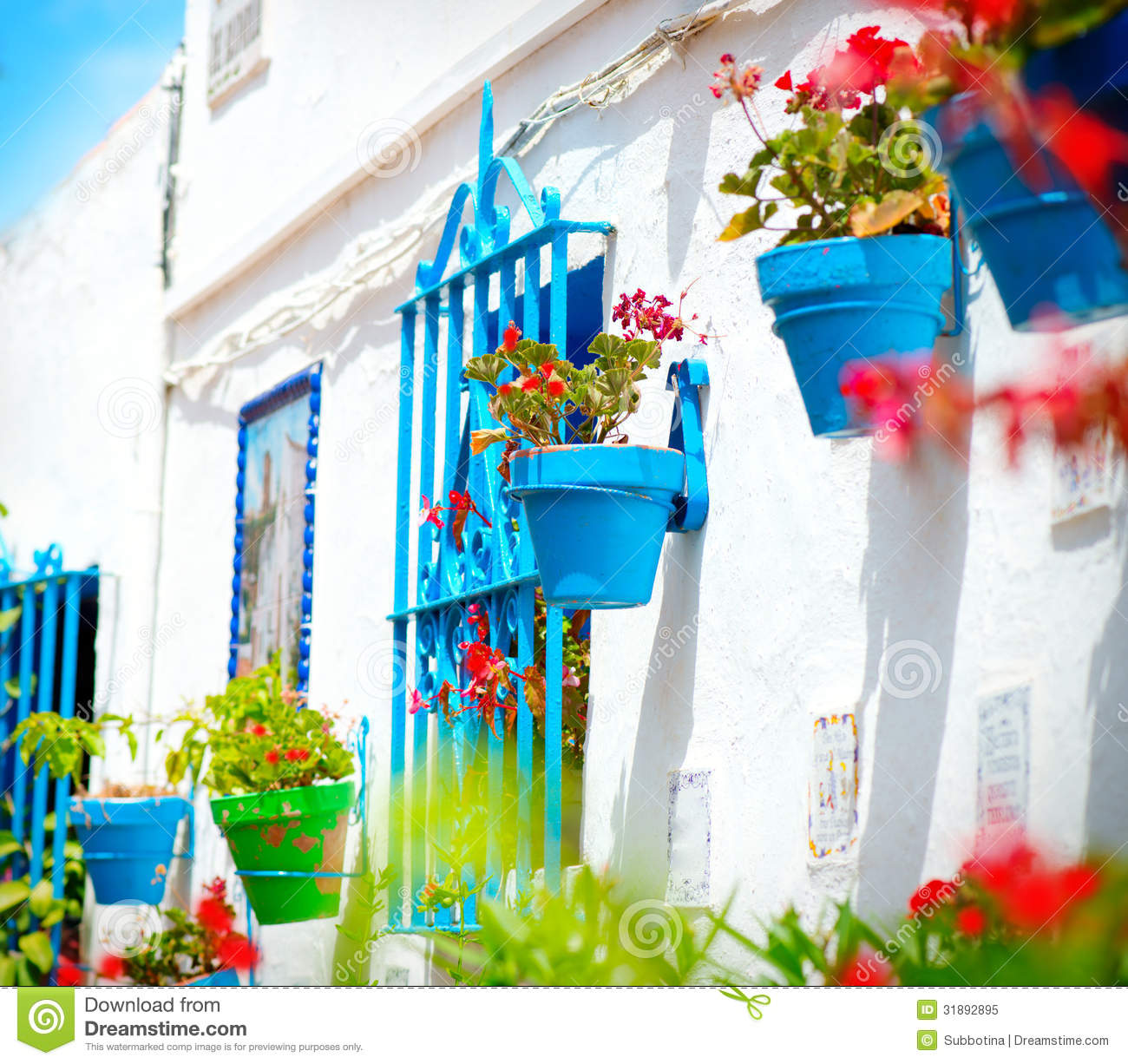 Torremolinos. Spanish White Village Royalty Free Stock Photo.