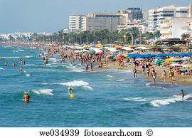 La carihuela beach beachfront torremolinos málaga province costa.