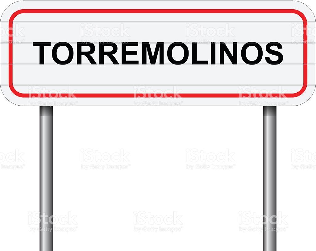 Welcome To Torremolinos Spain Road Sign Vector stock vector art.