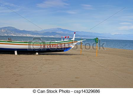 Pictures of Fishing boat in Torremolinos.