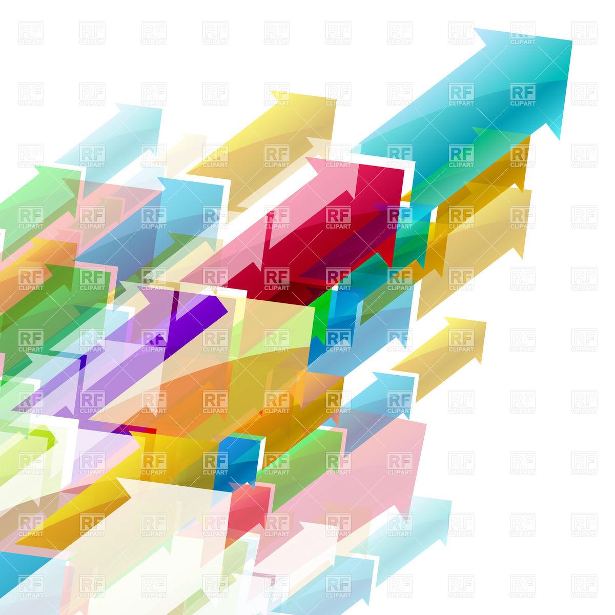 Arrows torrent background Vector Image #7666.