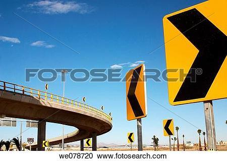Stock Photography of Modern bridge in Torreon, Coahuila, Mexico.