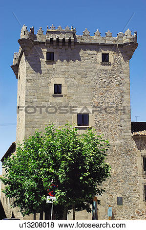 Pictures of Spain, Castilla Leon, Avila, Stone, Turret, Los.