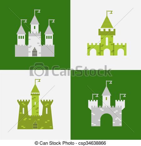 Clip Art de vectores de Ilustración, torreón, bandera, señal.