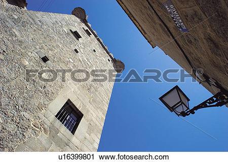 Stock Photography of Spain, Castilla Leon, Avila, Stone, Turret.