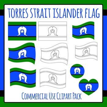 Torres Strait Islander Flag Clip Art for Commercial Use.
