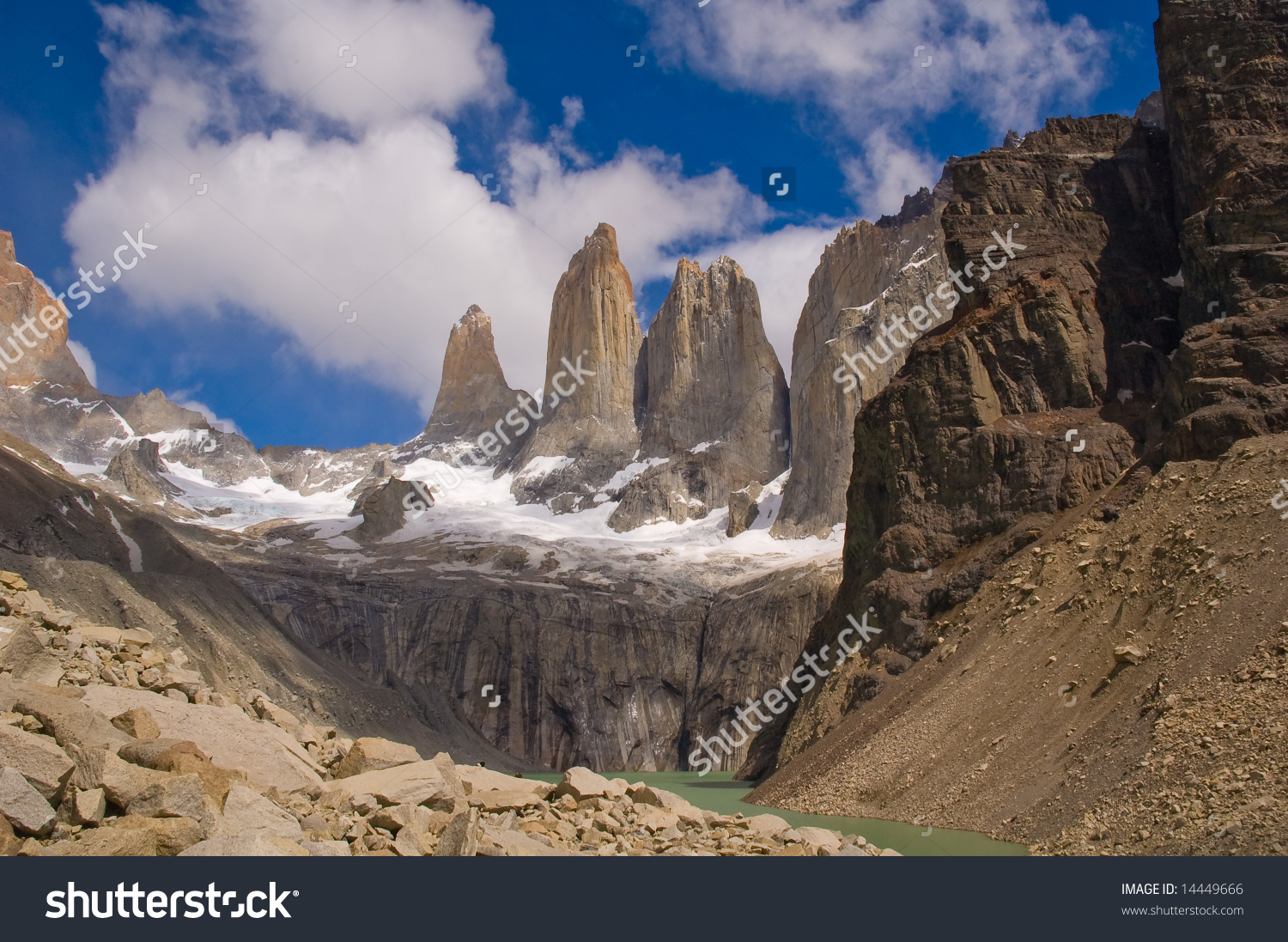 Torres Del Paine National Park Patagonia Stock Photo 14449666.