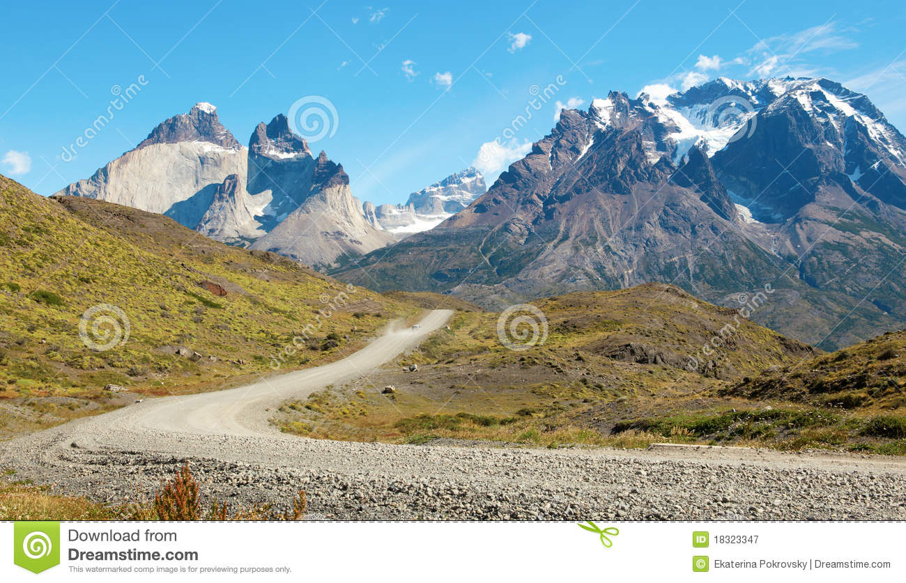 Road In Torres Del Paine National Park Royalty Free Stock.
