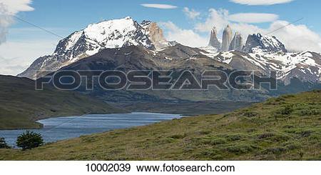 Stock Photograph of Torres del Paine National Park; Torres del.