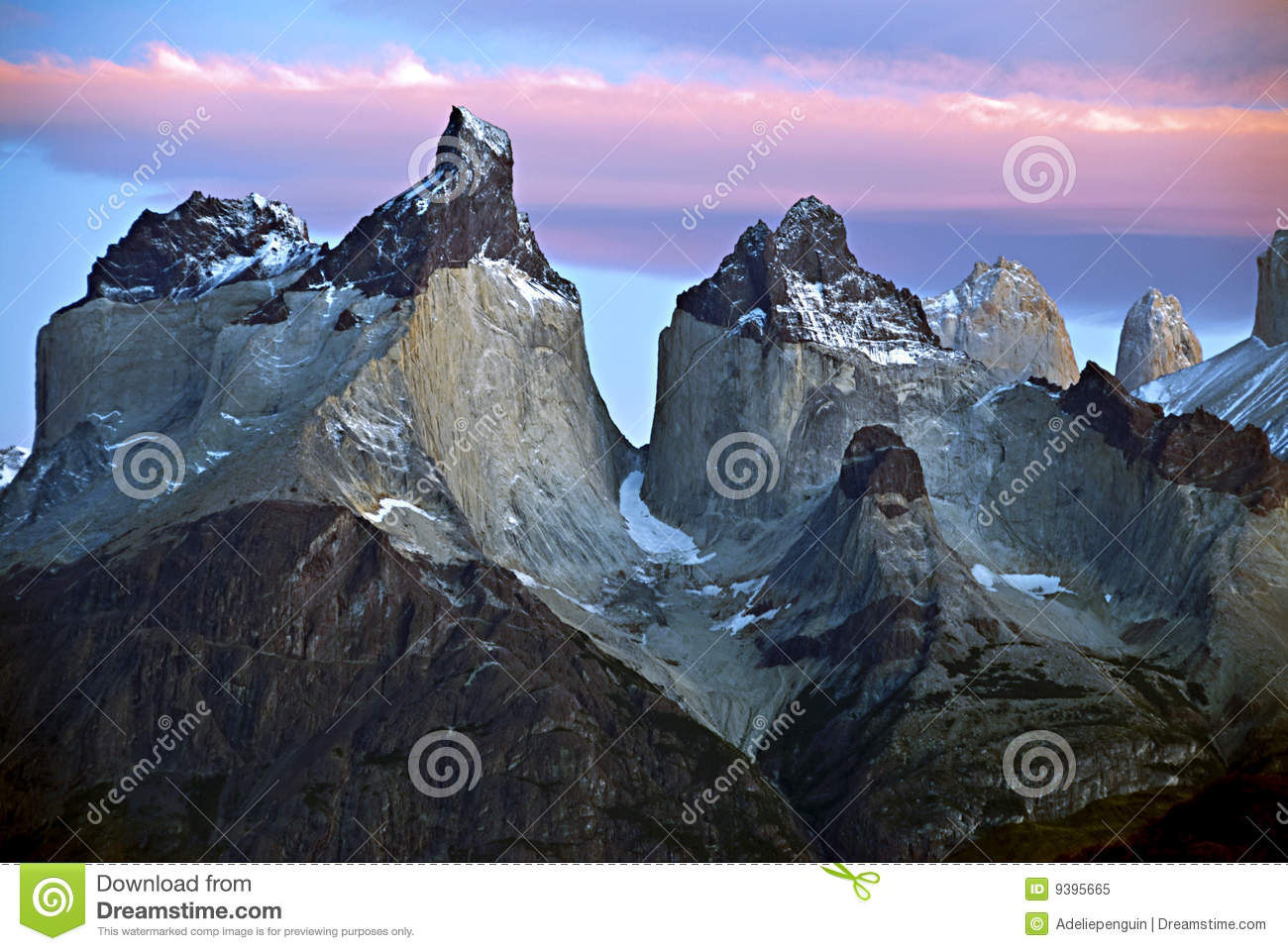 Torres Del Paine Mountains, Patagonia Chile Royalty Free Stock.