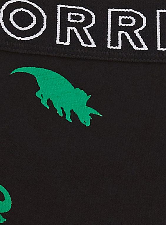 Torrid Logo Black Dinosaur Thong Panty.