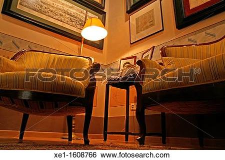 Stock Images of chairs, paintings, Galibern House, colonial house.