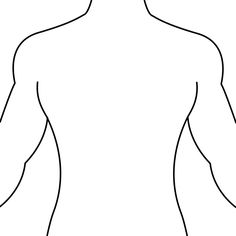 Woman upper torso clipart.