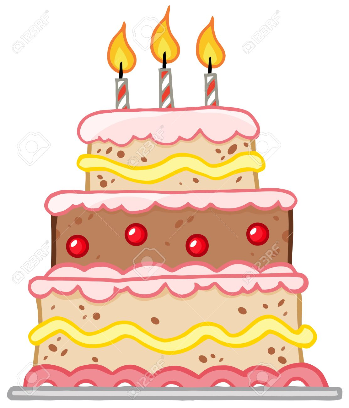 Three Layer Cake Clip Art : Tort clipart - Clipground