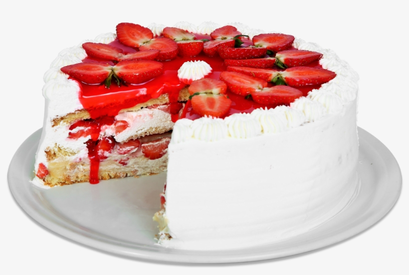 Torta Morango Com Chantilly.