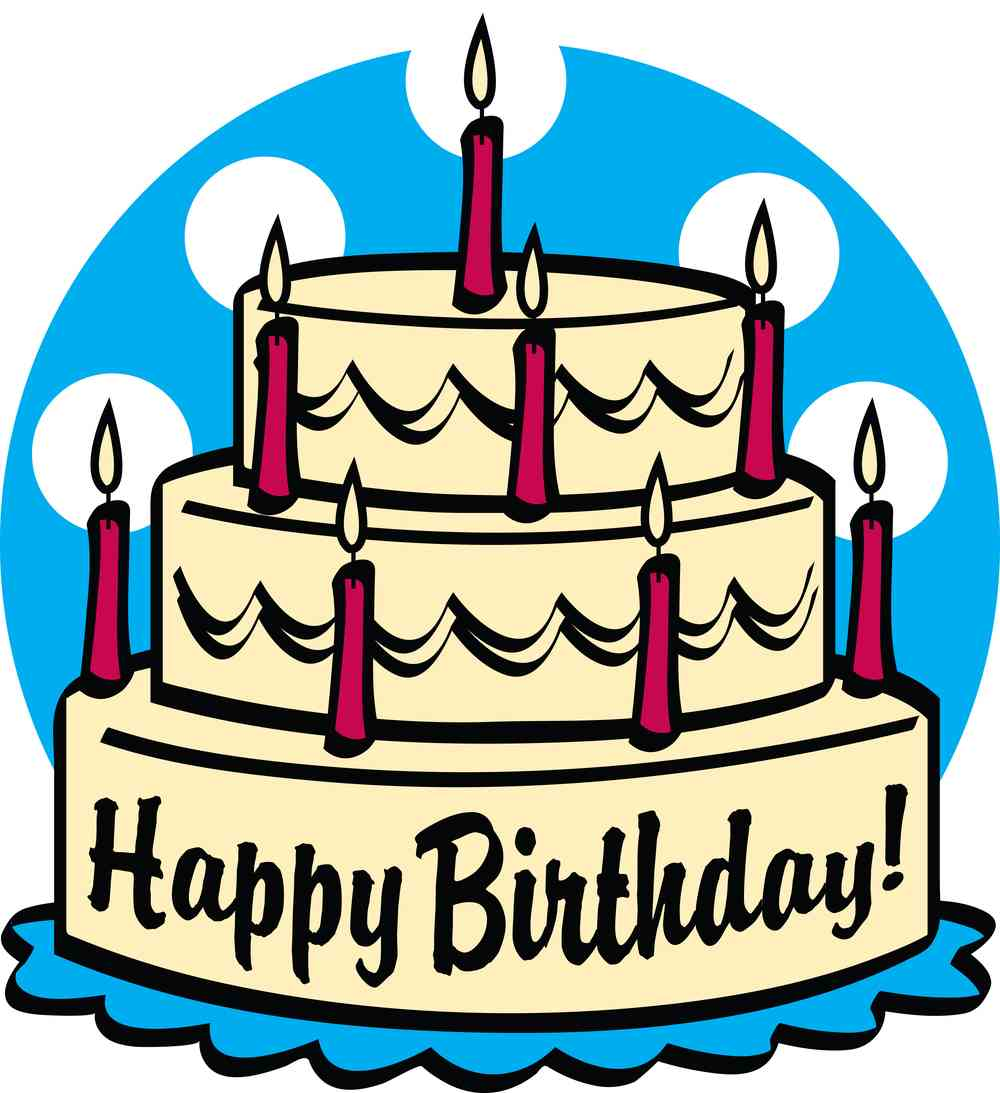 Happy birthday torte clipart.
