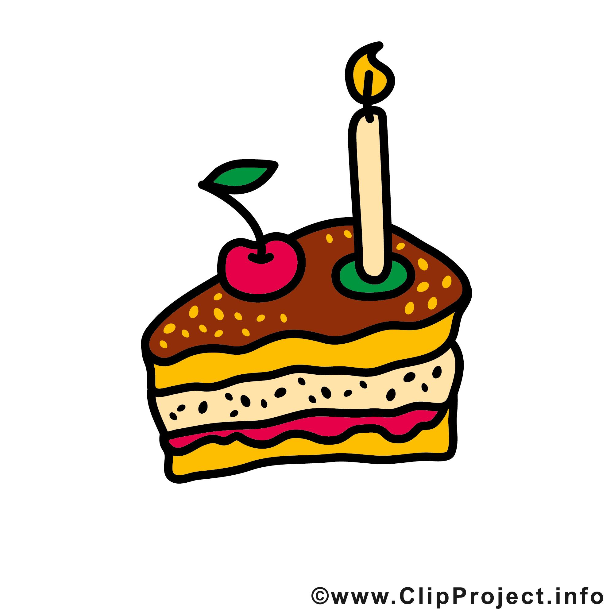 Torte zum Geburtstag Clipart Bilder kostenlos.