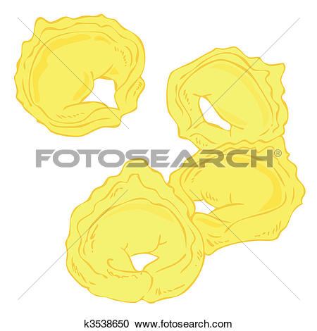 Clipart of Fresh Tortellini. k3538650.