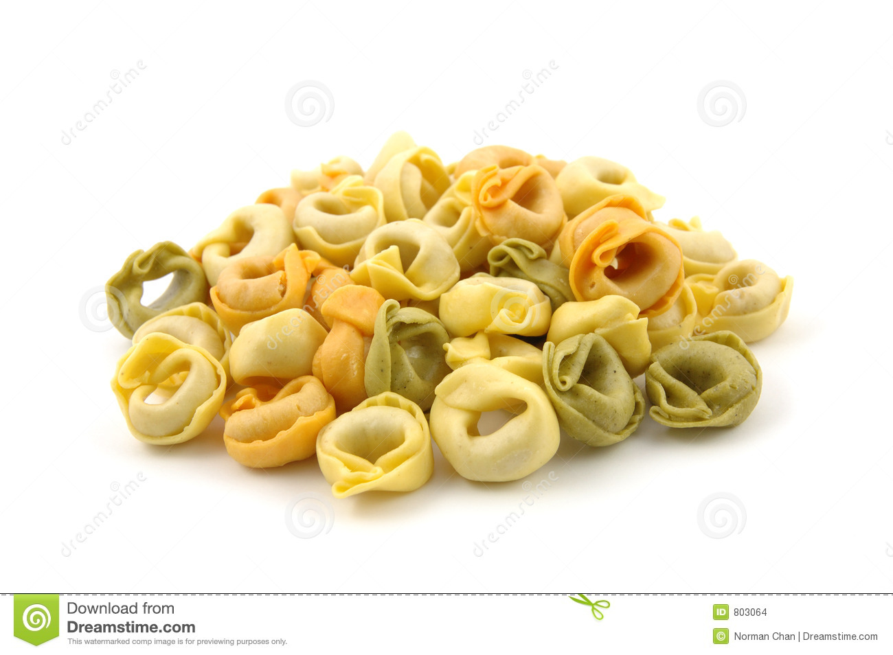 Tortellini Tricolore Pasta Royalty Free Stock Images.