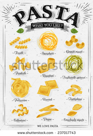 Italian Pasta Stock Photos, Royalty.
