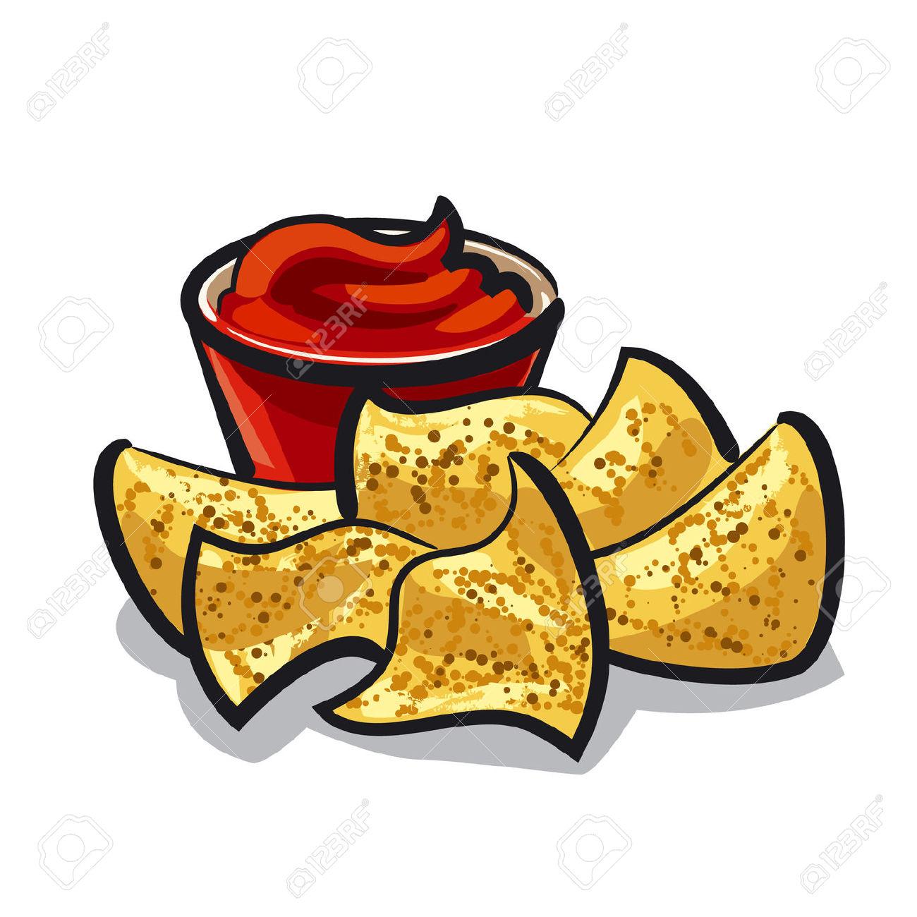 Tortilla chip clipart.