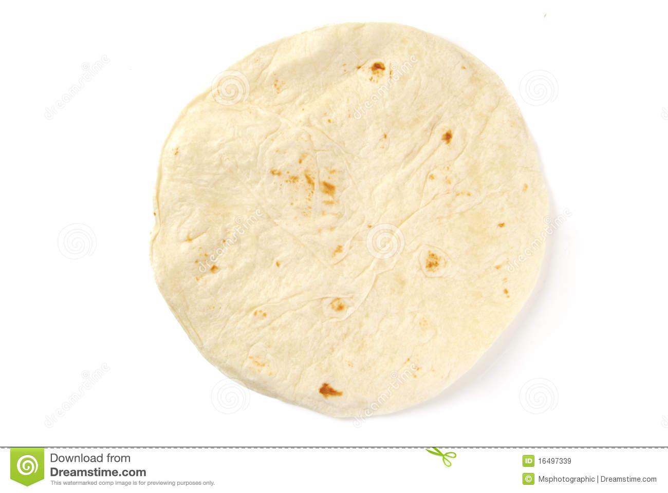 Flour Tortilla Stock Photo.
