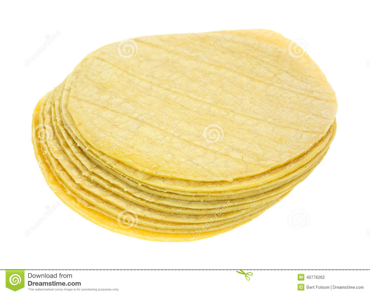 Stack Of Corn Tortillas On White Stock Images.