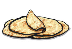 Pita Bread Stock Illustrations.
