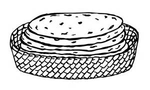 Tortilla clipart black and white.