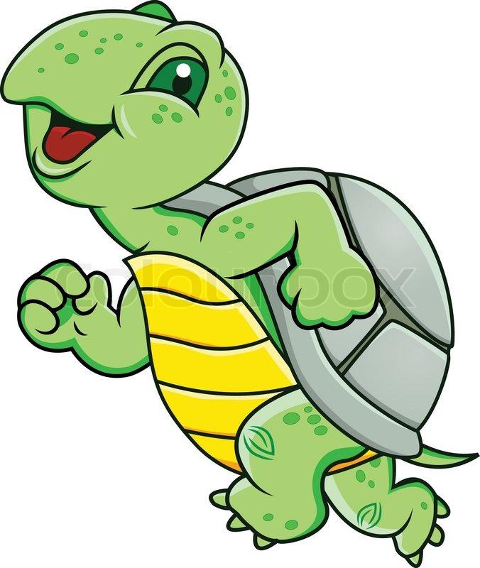 Running tortoise clipart.