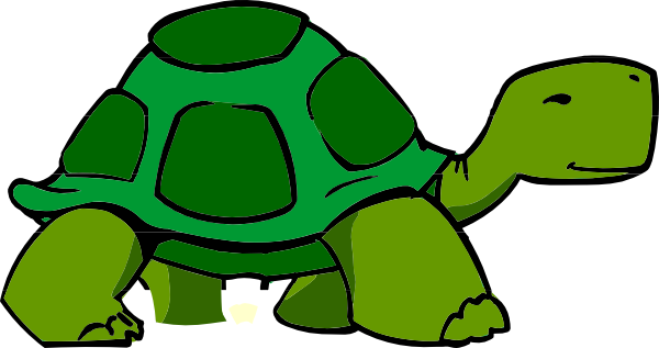 Slow tortoise clipart.