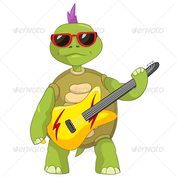 Turtle. Rock Star. by RAStudio.