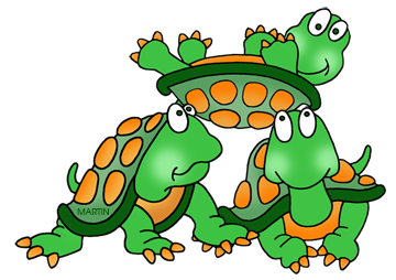 Free Turtles and Tortoises Clip Art by Phillip Martin.