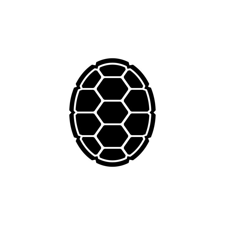 Brown Turtle Shell Pattern Clipart.