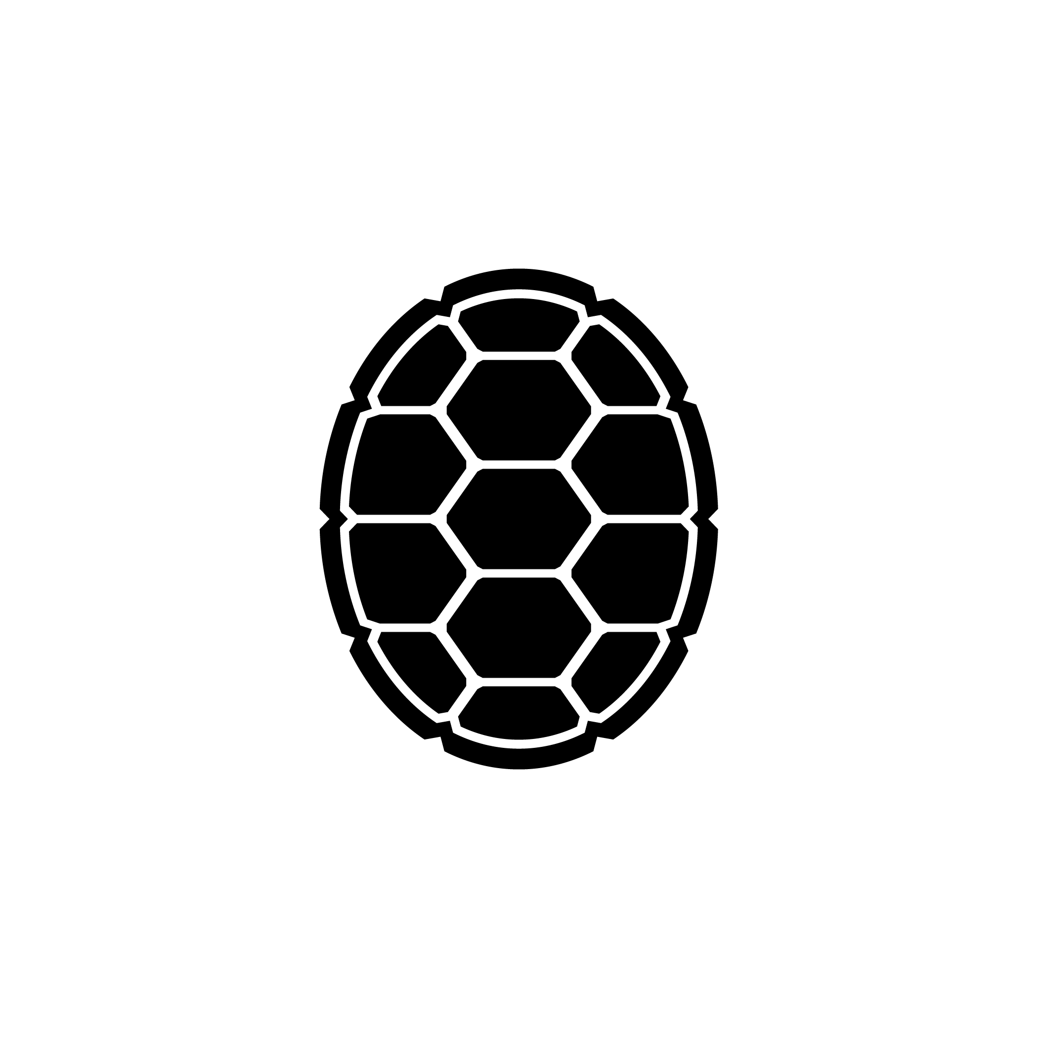 Turtle shell pattern clipart.