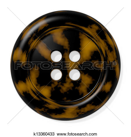 Drawing of Tortoise Shell Button k13360433.
