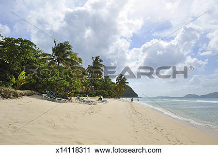 Stock Photography of View of Long Bay Beach, Tortola x14118311.