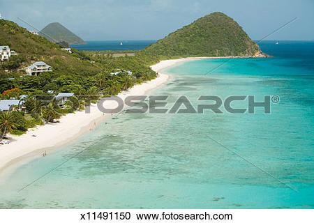 Stock Photography of British Virgin Islands, Tortola Island, West.