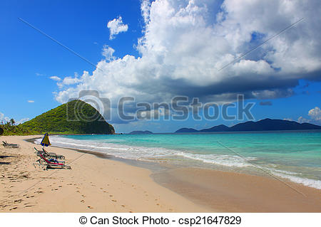 Stock Photo of Beautiful beach at Smugglers on Tortola of the.