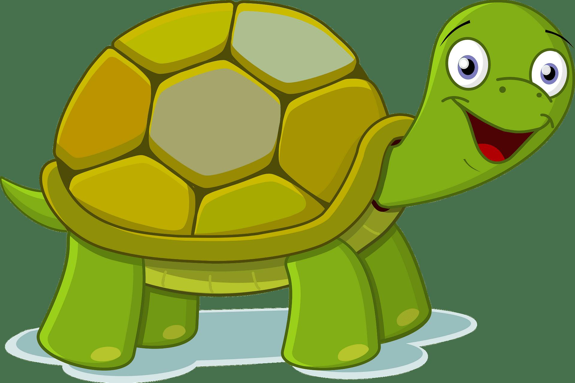 Tortuga sonriente clipart. Dibujos animados descargar gratis.