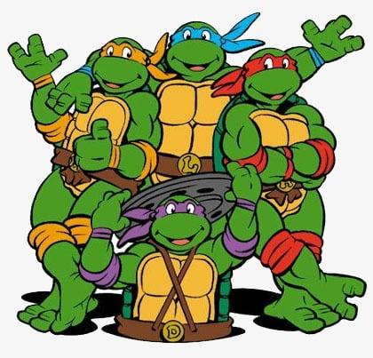 Teenage mutant ninja turtles PNG clipart.
