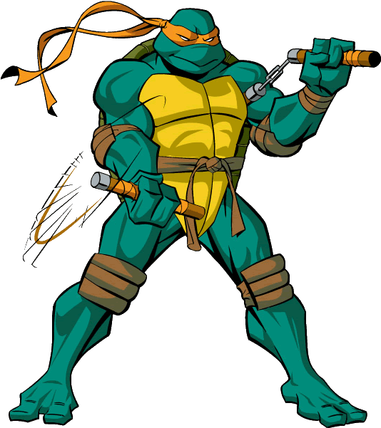 Michelangelo Ninja Turtle Weapon Clipart Png Download.