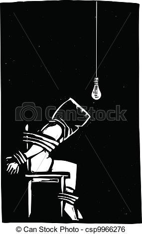 Clip Art Vector of Torture.