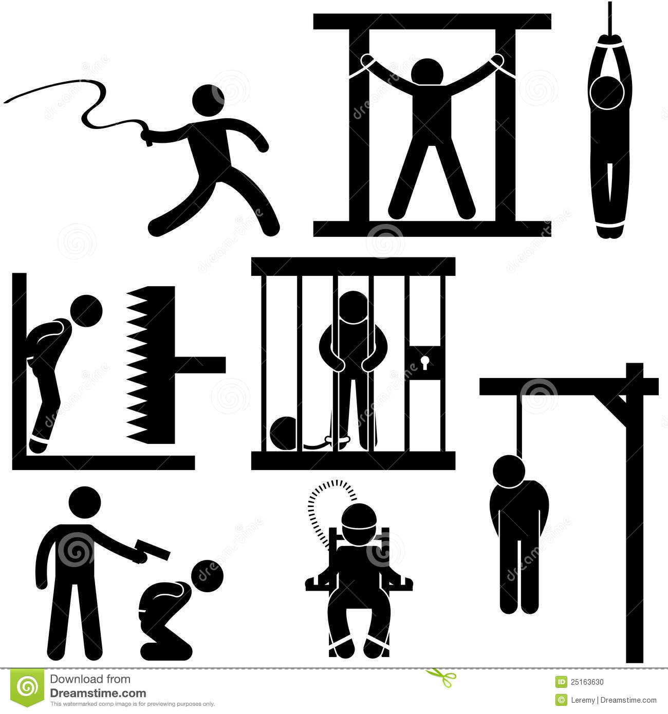 Torture Stock Illustrations.