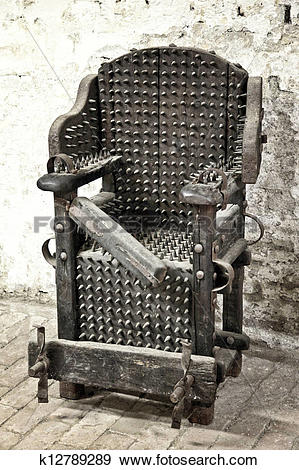 Stock Photograph of torture chair k12789289.