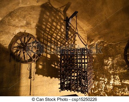 Stock Photo of Cage in torture chamber (Czech Republic.