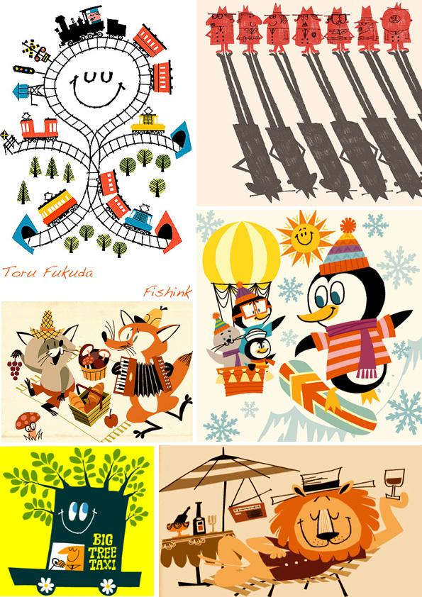 Toru Fukuda. Japanese Illustrations that bring a smile.