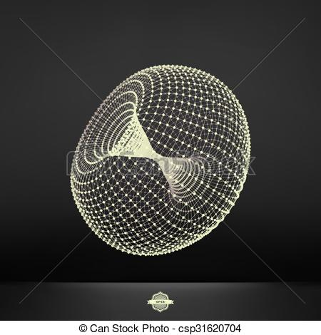 Vector Clipart of Torus. Connection Structure..