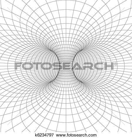 Clip Art of Torus (Donut) wireframe symbol k6234797.